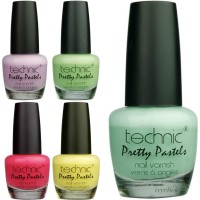 Technic Pretty Pastels Nail Varnish 5 Colours