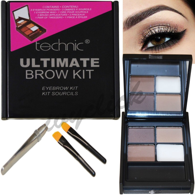 Technic Ultimate Brow Kit  with Powders Wax, Tweezers & Brush
