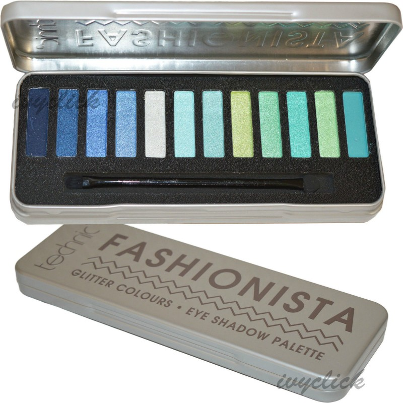 Technic Fashionista Glitter Eyeshadow Palette Green & Blue